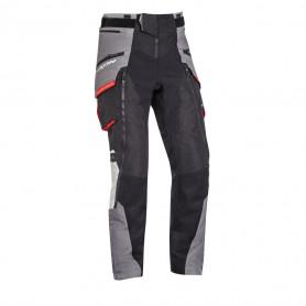 Pantalon touring IXON RAGNAR PT adventure noir gris rouge