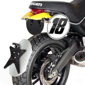 Parafango posteriore Barracuda Alluminio anodizzato Ducati Scrambler